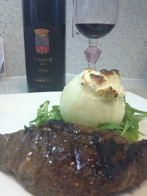 Wine Wednesday: Summus, Steak, and a Stuffed Onion… Mmm!
