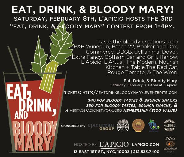 Eat, Drink, & Bloody Mary February 8th!