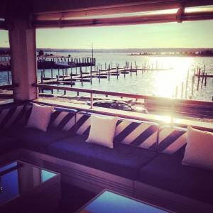 Bay Kitchen Bar lounge sunset