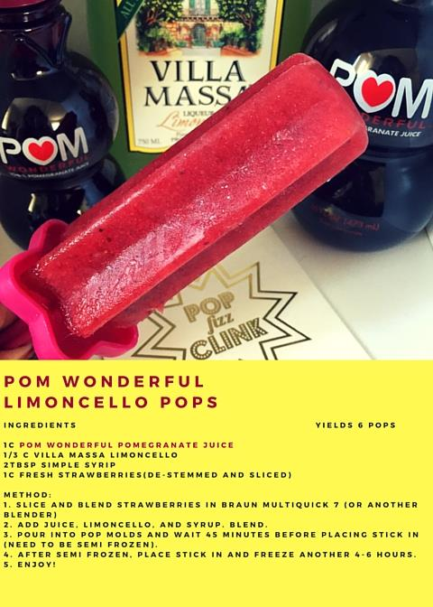 POM Wonderful Limoncello Pops!