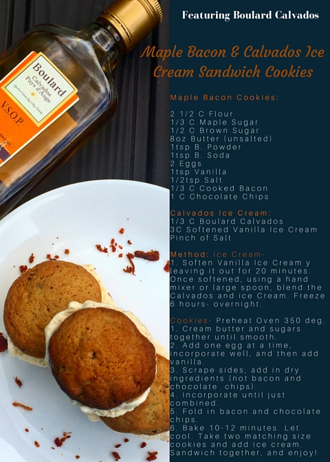 Maple Bacon & Calvados Ice Cream Sandwich Cookies-2
