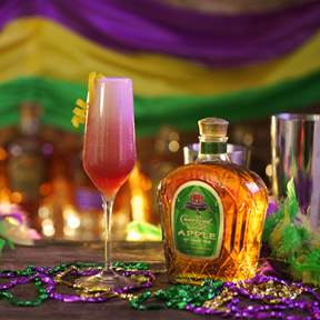 Mardi Gras Cocktails with Crown Royal!