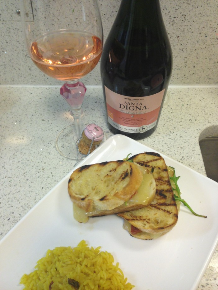 National Grilled Cheese Day & Sparkling Rose!