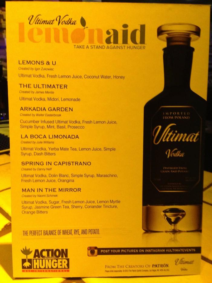 Ultimat Vodka Fights Hunger!