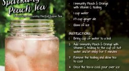Super Summer Sparkling Peach Tea!